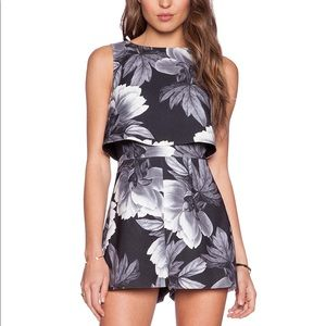 Keepsake Motion Picture Romper Inkwell Floral XS